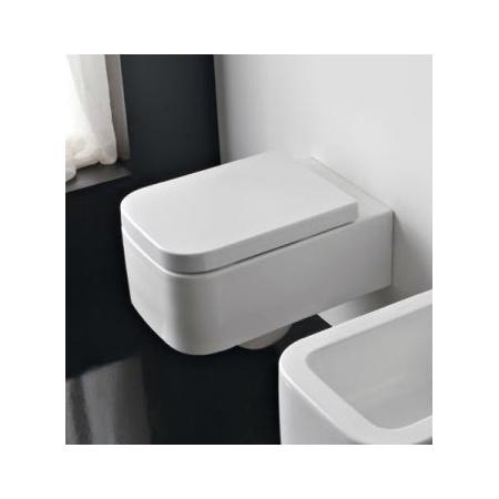 Scarabeo Next Muszla klozetowa miska WC podwieszana 55x35x34 cm, biała 8301