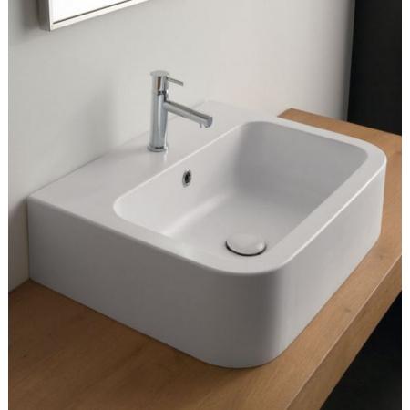 Scarabeo Next Umywalka nablatowa 60x46x16,5 cm, biała 8308
