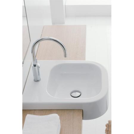 Scarabeo Next Umywalka półblatowa 41x50x13,5 cm, biała 8047/D