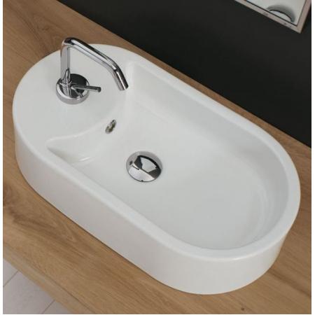 Scarabeo Seventy Umywalka nablatowa 41x22x12,5 cm, biała 8093