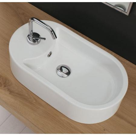 Scarabeo Seventy Umywalka nablatowa 55x30x12,5 cm, biała 8094