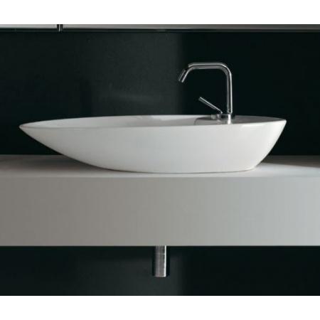 Scarabeo Shape Umywalka nablatowa 70x39x13 cm, biała 8097