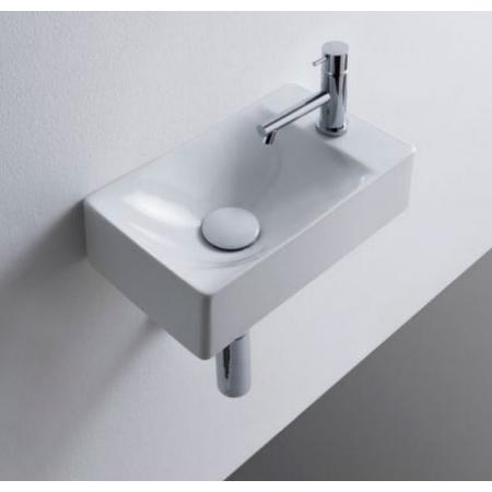 Scarabeo Soft Umywalka wisząca lub nablatowa 38x22x10 cm, biała 1502
