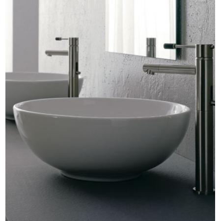 Scarabeo Thin-Line Umywalka nablatowa 39,5x39,5x15 cm, biała 8009
