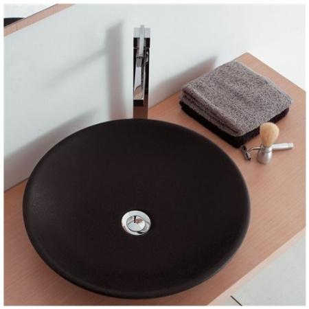 Scarabeo Thin-Line Umywalka nablatowa 45x45x11 cm, antracyt 8044-37