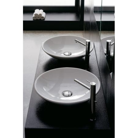 Scarabeo Thin-Line Umywalka nablatowa 45x45x11 cm, biała 8044