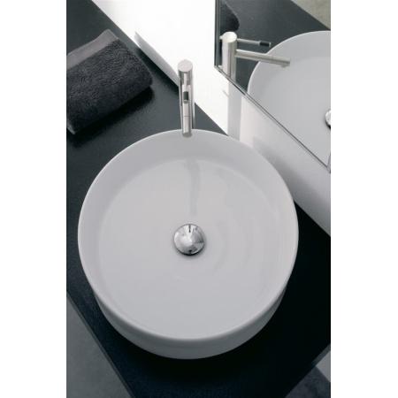 Scarabeo Thin-Line Umywalka nablatowa 45x45x13 cm, biała 8029