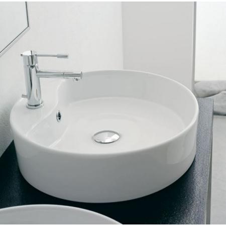 Scarabeo Thin-Line Umywalka nablatowa 46x46x13 cm, biała 8029/R