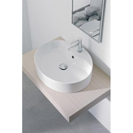 Scarabeo Thin-Line Umywalka nablatowa 54,5x45x13 cm, biała 8030/R
