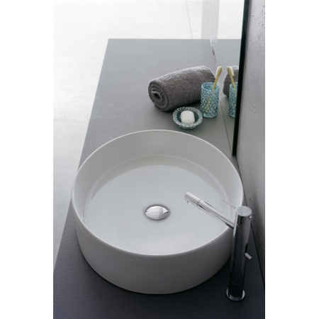 Scarabeo Thin-Line Umywalka nablatowa 54,5x45x13 cm, biała 8030