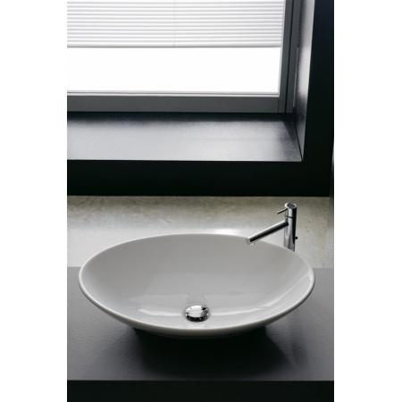 Scarabeo Thin-Line Umywalka nablatowa 63x45x15 cm, biała 8045
