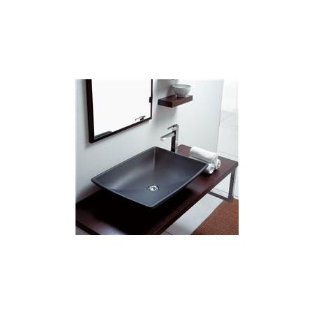 Scarabeo Thin-Line Umywalka nablatowa 63x46x14 cm, antracyt 8046-37