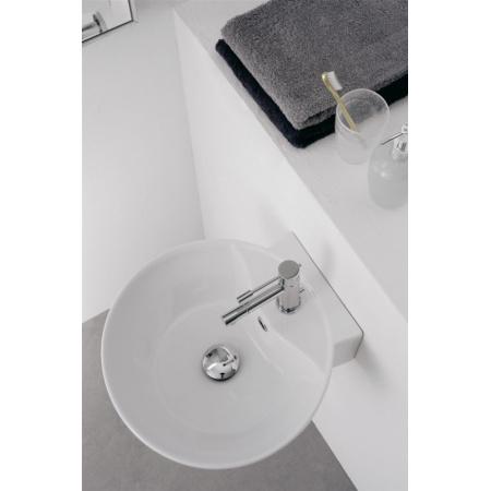 Scarabeo Thin-Line Umywalka wisząca lub nablatowa 40x42x15 cm, biała 8009/R