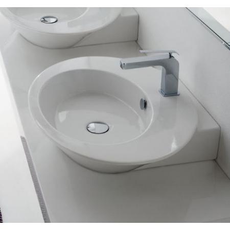 Scarabeo Wish Umywalka nablatowa 67x51x12 cm, biała 2001