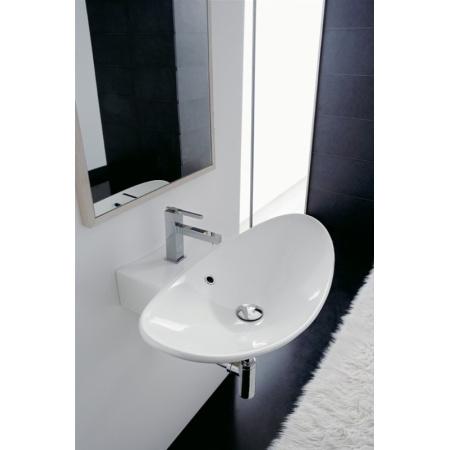Scarabeo Zefiro Umywalka wisząca lub nablatowa 50x50x18 cm, biała 8205