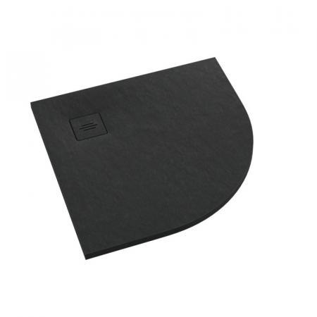 Schedpol Schedline Protos Black Stone Brodzik półokrągły 90x90 cm czarny 3SP.P1O-9090/C/ST-M1/C/ST