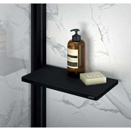 Huppe Select+ Organizer Tablet Półka pod prysznic 21,3x11 cm, czarna Black Edition SL2101123