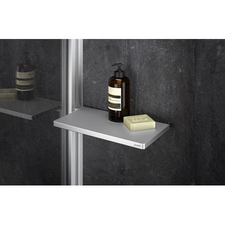 Huppe Select+ Organizer Tablet Półka pod prysznic 21,3x11 cm srebrna matowa SL2101087