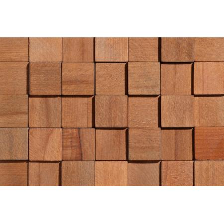Stegu Cube 1 Panel drewniany 34,5x34,5 cm, brązowy STECUB1PANDRE35X35BR