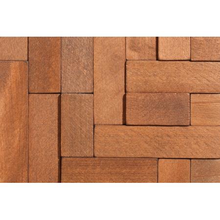 Stegu Cube 2 Panel drewniany 34,5x34,5 cm, brązowy STECUB2PANDRE35X35BR
