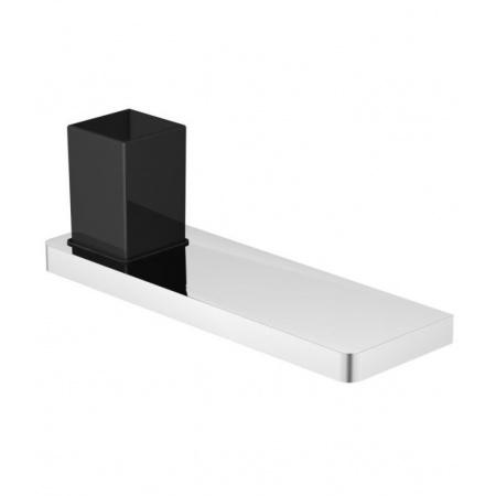 Steinberg 420 Półka chromowana 30 cm ze szklanką, szkło czarne matowe 4202012