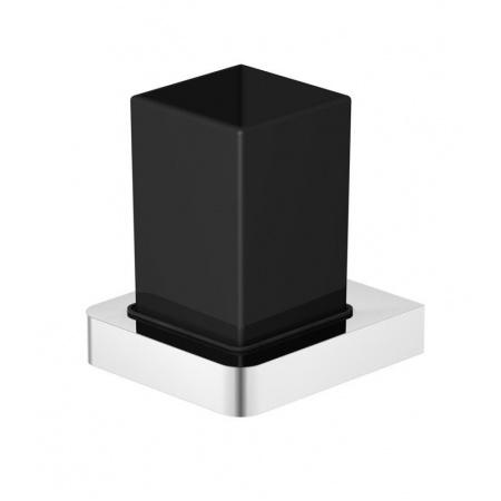 Steinberg 420 Szklanka z uchwytem, szkło czarny mat/chrom 4202002