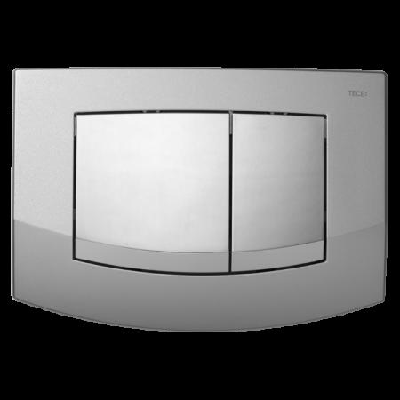 Tece Ambia Przycisk spłukujący do WC z tworzywa, ramka chrom matowy, przyciski chrom połysk 9240253