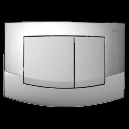 Tece Ambia Przycisk spłukujący do WC z tworzywa, ramka chrom połysk, przyciski chrom matowy 9240254