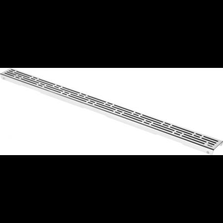 Tece Drainline Basic Ruszt do odpływu prysznicowego liniowego prosty 100 cm, stal szlachetna połysk 601010