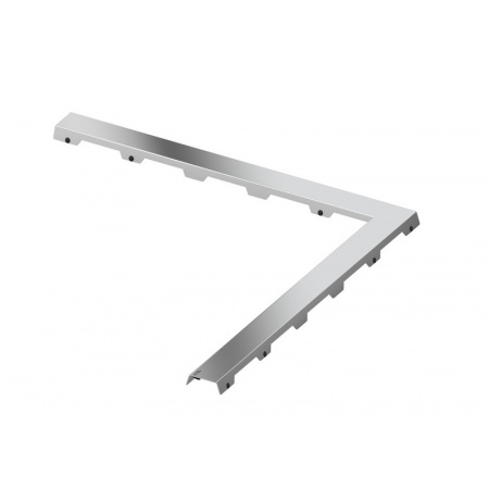 Tece Drainline Steel II Ruszt do odpływu liniowego kątowego 100x100 cm stal polerowana 611082
