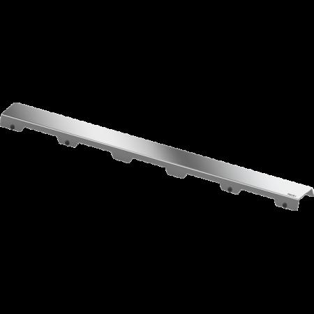 Tece Drainline Steel II Ruszt do odpływu prysznicowego liniowego prosty 90 cm, stal szlachetna połysk 600982
