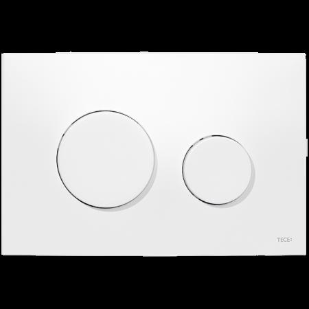Tece Loop Przycisk spłukujący do WC z tworzywa, biały, antybakteryjny 9240640
