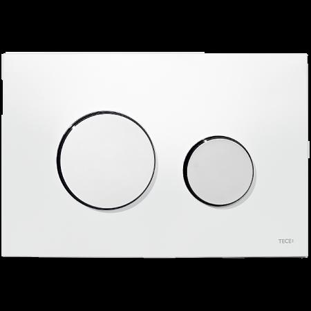 Tece Loop Przycisk spłukujący do WC z tworzywa, biały, przyciski chrom połysk 9240627