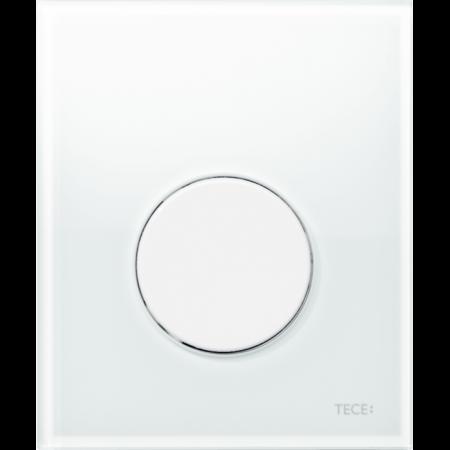 Tece Loop Przycisk spłukujący do pisuaru szklany, szkło białe, przyciski białe 9242650
