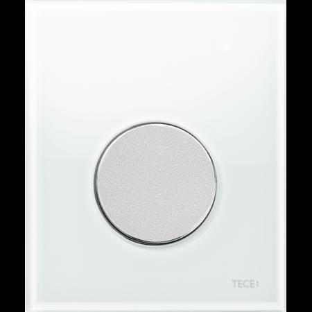 Tece Loop Przycisk spłukujący do pisuaru szklany, szkło białe, przyciski chrom matowy 9242659