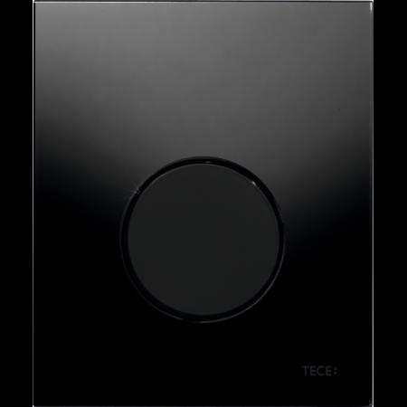 Tece Loop Przycisk spłukujący do pisuaru szklany, szkło czarne, przyciski czarne 9242657