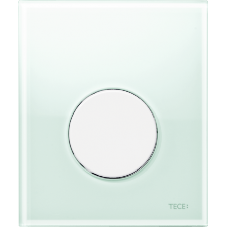 Tece Loop Przycisk spłukujący do pisuaru szklany, szkło zielone, przyciski białe 9242651