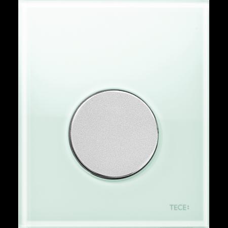 Tece Loop Przycisk spłukujący do pisuaru szklany, szkło zielone, przyciski chrom matowy 9242652
