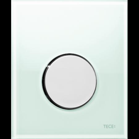 Tece Loop Przycisk spłukujący do pisuaru szklany, szkło zielone, przyciski chrom połysk 9242653