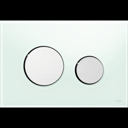 Tece Loop Przycisk spłukujący do WC szklany, szkło zielone, przyciski chrom połysk 9240653