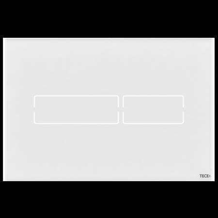 Tece Lux Mini Przycisk spłukujący do WC szklany, bezdotykowy,  białe 9240960
