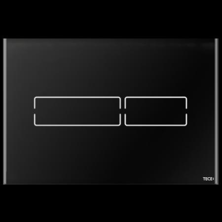 Tece Lux Mini Przycisk spłukujący do WC szklany, bezdotykowy,  czarne 9240961
