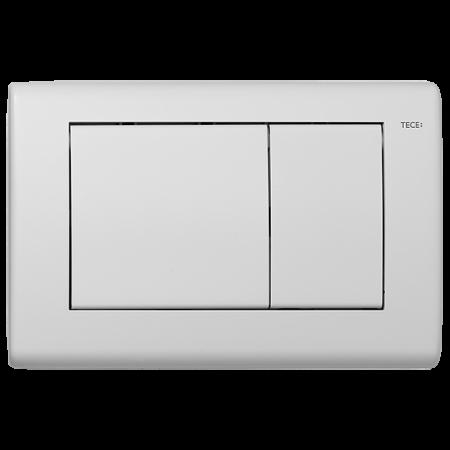 Tece Planus Przycisk spłukujący do WC metalowy, biały matowy 9240322