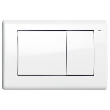 Tece Planus Przycisk spłukujący do WC metalowy, biały połysk 9240324