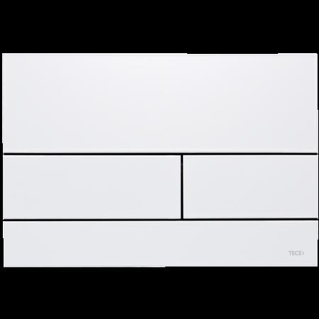 Tece Square II Przycisk spłukujący do WC metalowy, biały 9240832