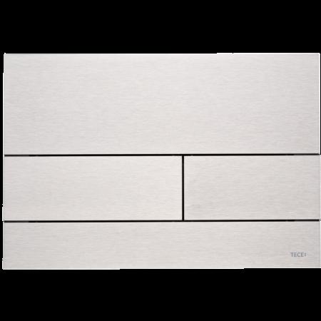 Tece Square II Przycisk spłukujący do WC metalowy, stal szlachetna szczotkowana 9240830