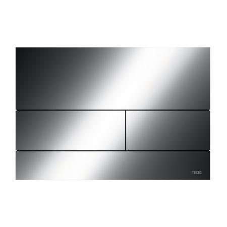 Tece Square II Przycisk spłukujący WC czarny chrom połysk 9240837