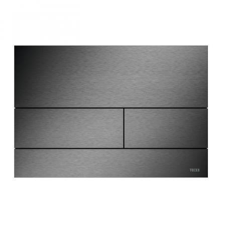 Tece Square II Przycisk spłukujący WC czarny chrom szczotkowany 9240836