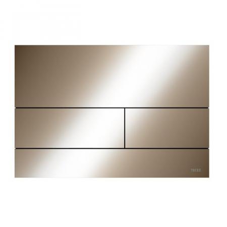 Tece Square II Przycisk spłukujący WC czerwone złoto połysk 9240841