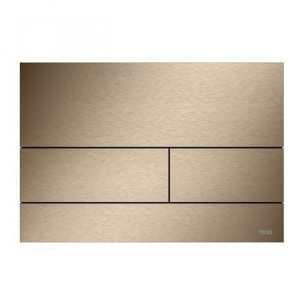 Tece Square II Przycisk spłukujący WC czerwone złoto szczotkowane 9240840